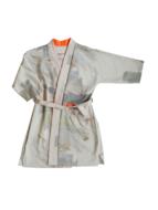 Kimono grijs oranje